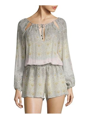 Agua de Coco by liana thomaz Road Maria Silk Blouson Cover-Up