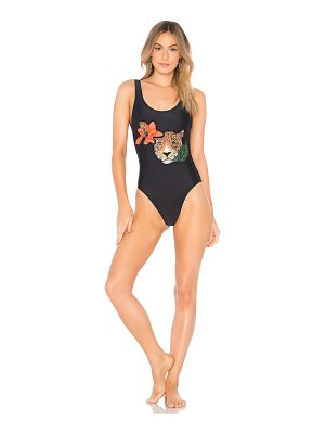 AGUADECOCO Leopard Embroidered One Piece