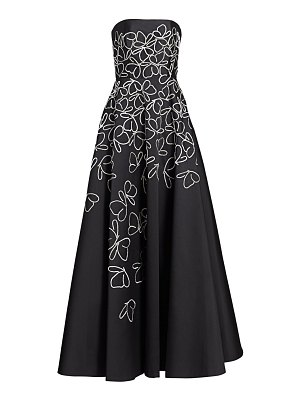 Ahluwalia beaded butterfly strapless ball gown