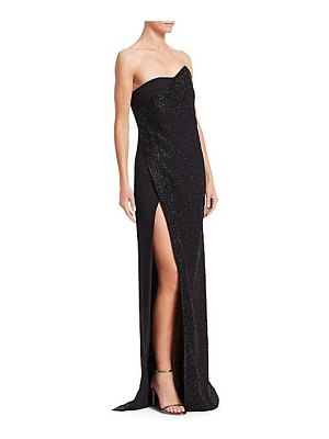 Ahluwalia chalet strapless high slit gown
