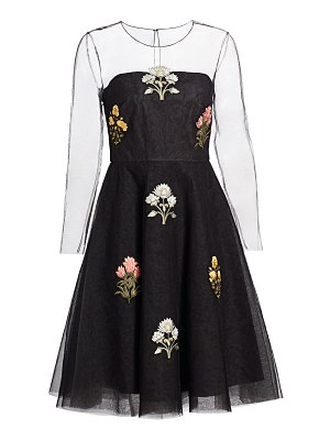 Ahluwalia floral tulle cocktail dress