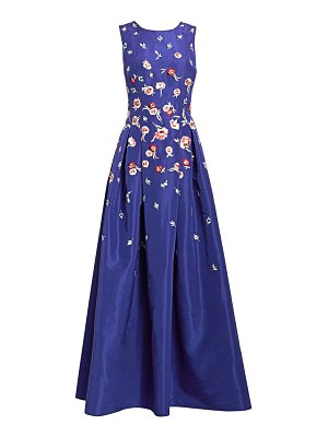 Ahluwalia lucille embroidered floral silk gown