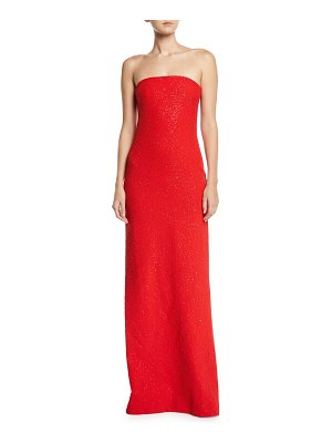 Ahluwalia Omani Shimmery Strapless Column Gown