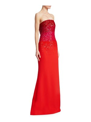 Ahluwalia tina ombre embroidered strapless gown