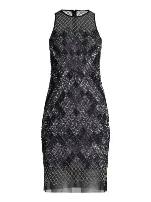 Aidan by Aidan Mattox beaded halter mini dress