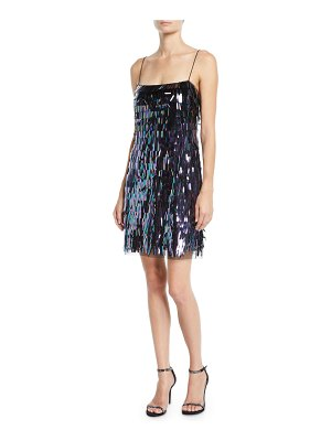 Aidan by Aidan Mattox Sequin Flapper Mini Dress