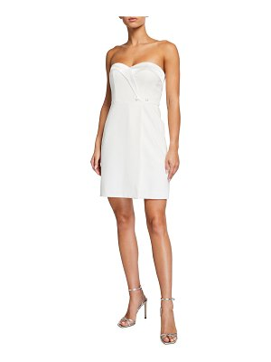 Aidan by Aidan Mattox Tuxedo Strapless Mini Dress