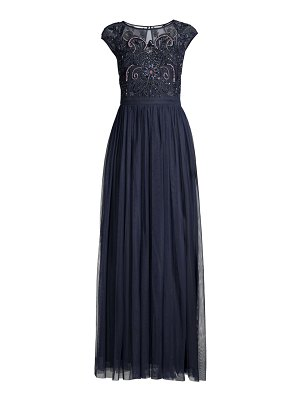 Aidan Mattox beaded bodice fit-&-flare gown