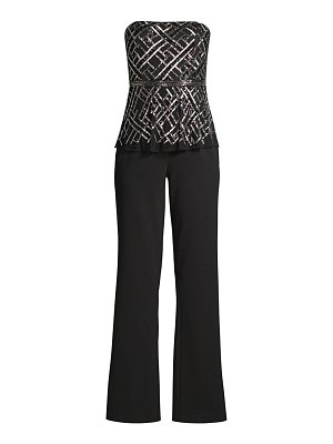Aidan Mattox beaded strapless jumpsuit