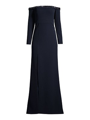 Aidan Mattox embellished off-the-shoulder gown