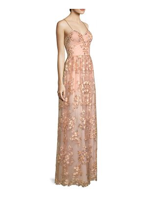 Aidan Mattox floral embroidered gown