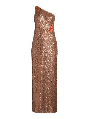 Aidan Mattox one shoulder shimmer gown