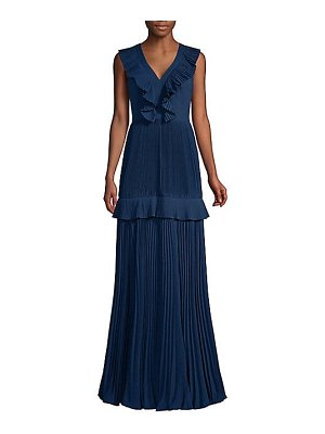 Aidan Mattox pleated tiered gown