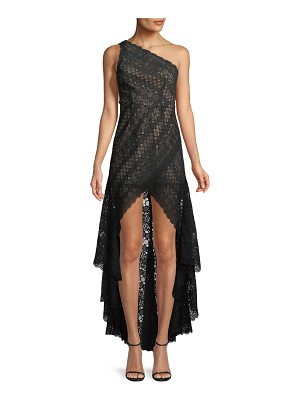 aijek Asymmetric High-Low Lace Cocktail Dress