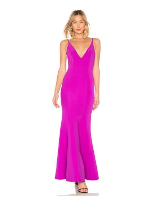 aijek Camille Bonded Scoop Back Gown