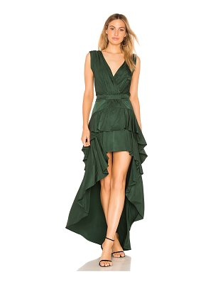 aijek Madelyn Drape Maxi Dress