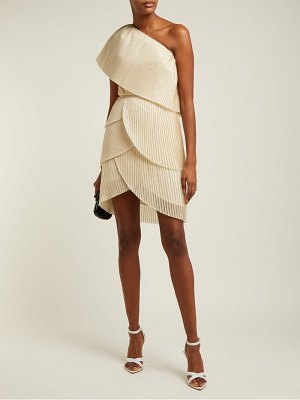 Aje blythe asymmetric pleated mini dress
