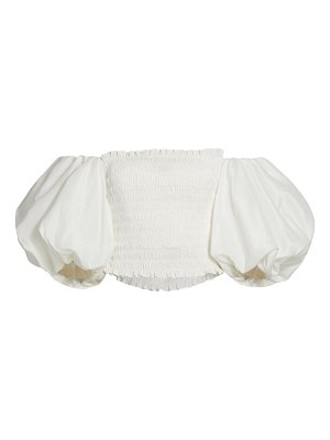 Aje cascade puff-sleeve crop top
