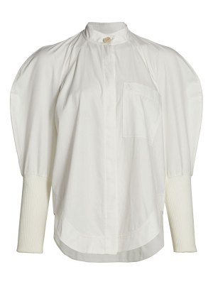 Aje chaise puff-sleeve shirt