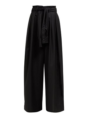 Aje edward tie waist wool blend trousers