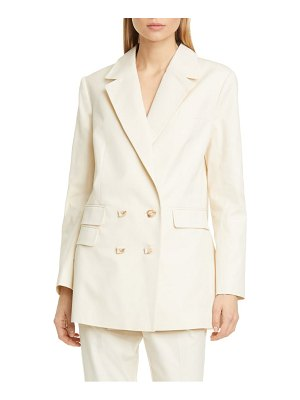 Aje prima back button double breasted blazer