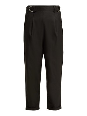 Aje salisbury belted high rise wool blend trousers