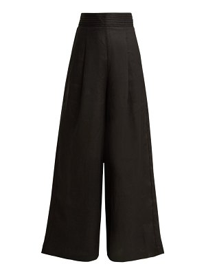 Aje tate wide leg linen trousers