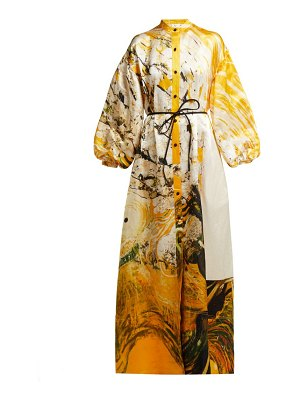 Aje x brett whiteley mcmahon linen blend gown