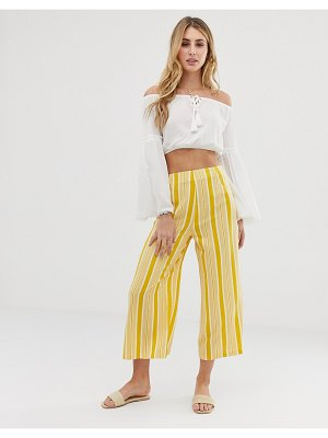 Akasa exclusive yellow stripe beach culottes-multi