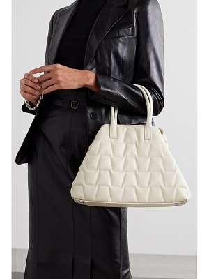 Akris ai messenger small convertible quilted leather tote - off-white