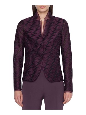 Akris Aiana Lip-Embroidered Semisheer Blazer