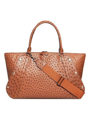 Akris Aimee Medium Ostrich Satchel Bag