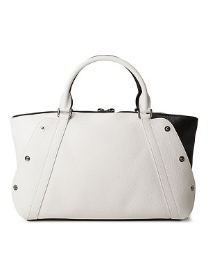 Akris Aimee Small Bicolor Leather Satchel Bag