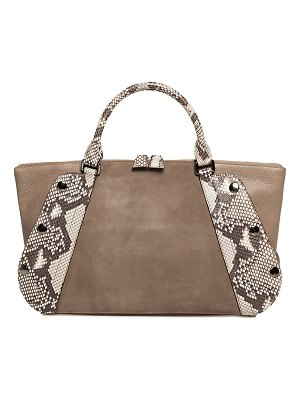 Akris Aimee Small Two-Tone Satchel Bag