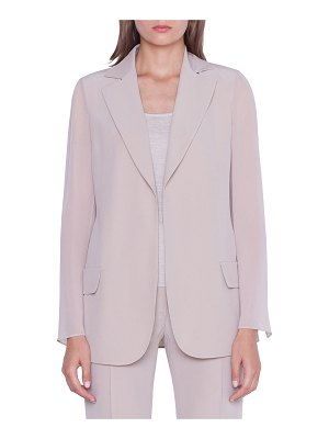 Akris Alea Chiffon-Sleeve Open Jacket