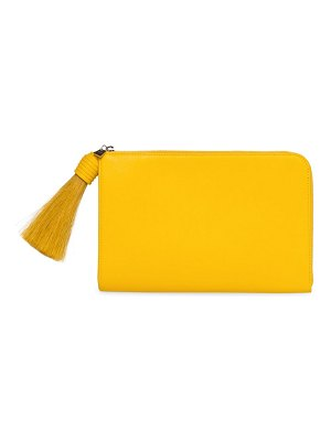 Akris alexa leather clutch