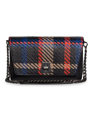 Akris Anouk Day Braided Leather Clutch Bag w/ Chain