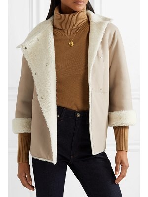 Akris atlanta reversible shearling jacket