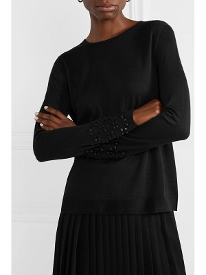 Akris bead-embellished cashmere and mulberry silk-blend sweater