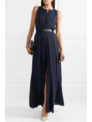 Akris belted wool-voile maxi dress