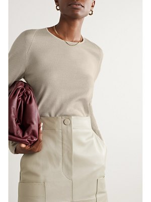 Akris cashmere and mulberry silk-blend sweater
