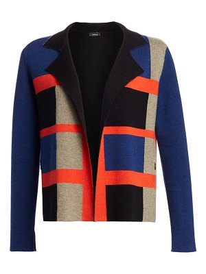 Akris cashmere reversible knit jacket