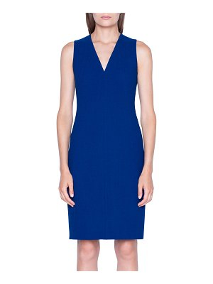 Akris Crepe V-Neck Sheath Dress