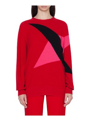 Akris double diamond intarsia cashmere sweater