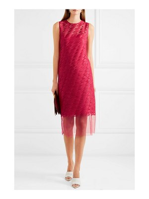 Akris embroidered tulle and silk dress