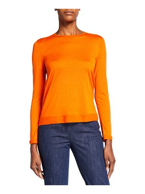 Akris Fine Gauge Cashmere-Silk Seamless Sweater