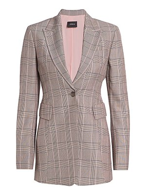 Akris gash wool plaid jacket