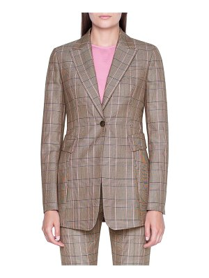 Akris Glen Plaid Shaped Blazer