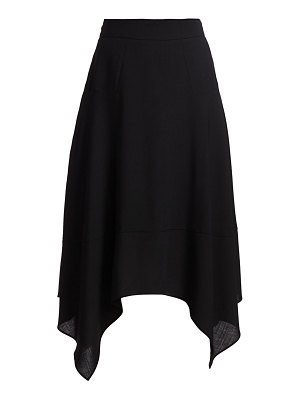 Akris handkerchief-hem wool skirt