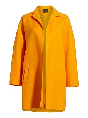 Akris harlow double faced wool & cashmere coat